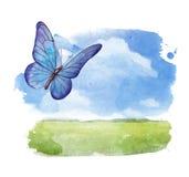 Summer landscape royalty free illustration