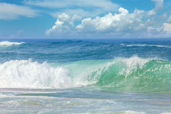 Summer Landscape - Waves in the warm Sea Water Stock Images