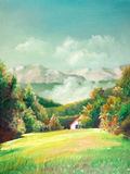 Summer landscapes. Summer scene of landscapes, this is oil painting and I am author of this image Stock Images