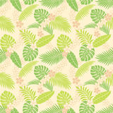 Summer leaf pattern. Pattern of summer tropical leaves Stock Photo
