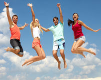 Summer leap Royalty Free Stock Photography