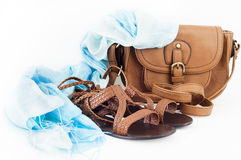 Summer leather accessories royalty free stock photography