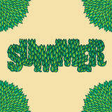 Summer leaves lettering Royalty Free Stock Images