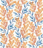 Summer Leaves Pattern Stock Photography