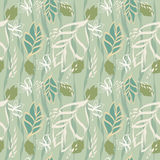 Summer leaves texture. Seamless pattern. Vector illustration Stock Images