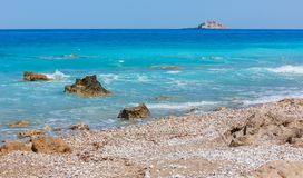 Summer Lefkada coast, Greece royalty free stock images