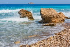 Summer Lefkada coast, Greece stock image