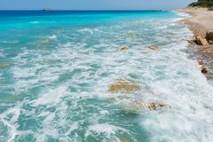 Summer Lefkada coast, Greece royalty free stock photo