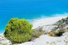 Summer Lefkada Island coast  (Greece). Summer Lefkada Island coast view from up (Greece Royalty Free Stock Images