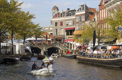 Summer in Leiden, Holland Royalty Free Stock Photo