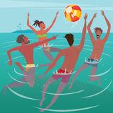 Summer leisure at sea Stock Image