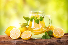 Summer lemon drink Royalty Free Stock Photo