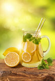 Summer lemon drink Royalty Free Stock Image