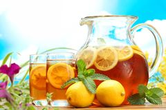 Summer lemon ice tea Stock Image