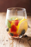 Summer lemonade with berry and lemon Royalty Free Stock Images