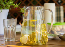 Summer lemonade in jar Stock Photos