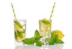 Summer lemonade with Lemon and mint Royalty Free Stock Photos