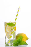 Summer lemonade with Lemon and mint Stock Photo