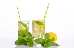 Summer lemonade with Lemon and mint Stock Photography