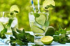 Summer lemonade mojito . Stock Photos