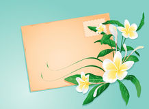 Summer letter with exotic flowers Stock Photo