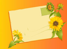 Summer letter with sunflowers Stock Photography