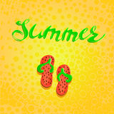 Summer letterin hand drawn and step-ins handmade graphicsAbstract Blot points. The blast wheels. Design elements. Vector.eps10 Stock Photography