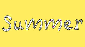 Summer lettering Royalty Free Stock Photos