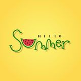 Summer lettering Stock Images