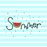 Summer lettering Royalty Free Stock Photography