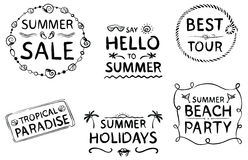 Summer lettering Stock Photos