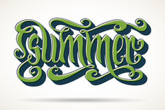Summer lettering Stock Photo