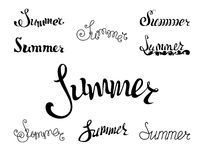 Summer lettering. Stock Images