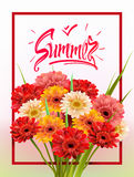 Summer Lettering, poster Stock Photo