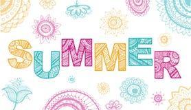 Summer lettering. Vector Illustration Stock Images