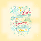 Summer lettering vintage typographic design Stock Photos