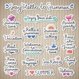 Summer letterings Royalty Free Stock Photos