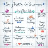 Summer letterings Royalty Free Stock Images