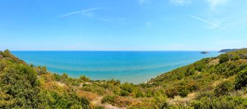Summer Lido di Portonuovo海岸,意大利 免版税库存照片