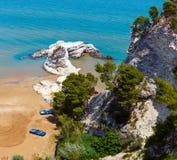 Summer Lido di Portonuovo海滩,意大利 库存照片