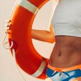 Summer. Lifebuoy. Fashion beach style Royalty Free Stock Photography