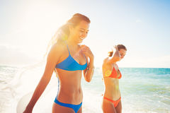 Summer Lifestyle, Friends at the Beach stock images