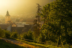 Summer light Brasov Stock Images