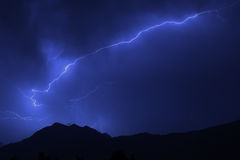 Summer lightning storm Royalty Free Stock Image