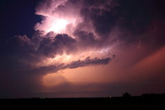Summer lightning storm Stock Image