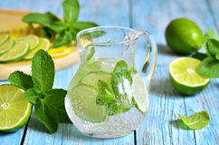 Summer lime and mint lemonade. Royalty Free Stock Images