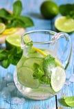Summer lime and mint lemonade. Stock Photo