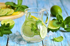 Summer lime and mint lemonade. Royalty Free Stock Image