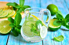 Summer lime and mint lemonade. Stock Photo
