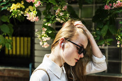 Summer Listening Chilling Connection Audio Concept Stock Photography